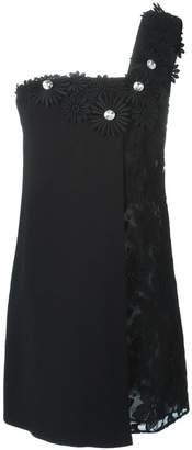 Ungaro flower appliqué dress