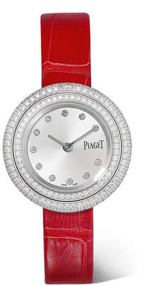 Piaget Possession Alligator, 18-karat White Gold Diamond Watch