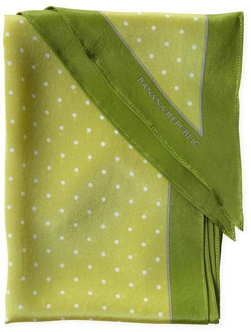 Banana Republic Lana dot silk scarf