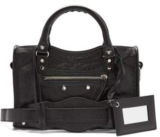 Balenciaga Classic City Mini Leather Cross Body Bag - Womens - Black