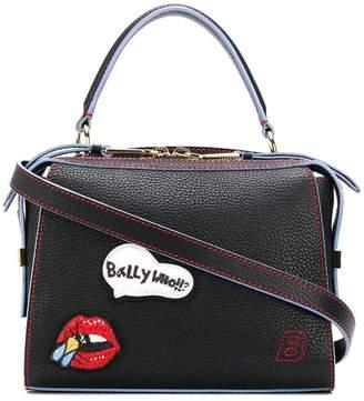 Amoeba Small Pink, Womens plain calf leather top handle bag in blush Bally