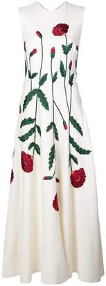 Oscar de la Renta embroidered floral dress
