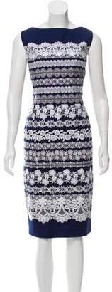 Oscar de la Renta Floral Midi Dress