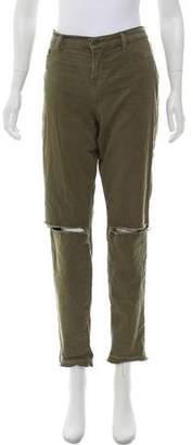 J Brand Jungle Distressed Mid-Rise Jeans