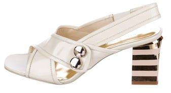 Marc by Marc Jacobs Leather Slingback Sandals
