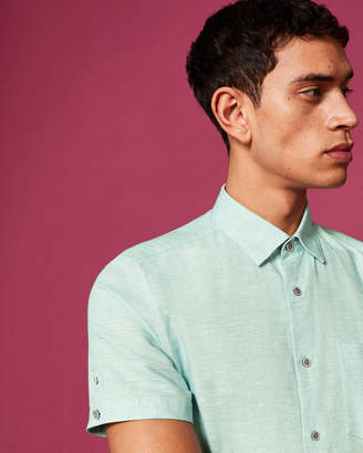 Ted Baker PEEZE Cotton-linen shirt