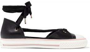RED Valentino Cutout Leather Sneakers