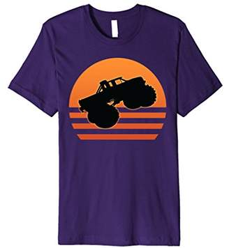 Big size Cars Sunset Shirt for Monster Style Truck T-Shirt