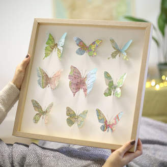 Bombus Nine Personalised Map Location Butterfly Wall Art