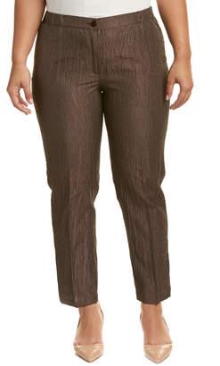 Marina Rinaldi Plus Revival Linen & Silk-Blend Pant