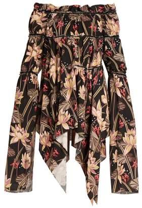 Loewe X Paula's Ibiza floral-print crepe dress