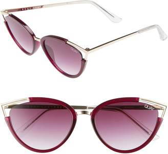 Quay Hearsay 65mm Cat Eye Sunglasses