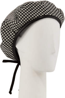 Eric Javits Kate Wool Houndstooth Beret