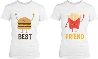 Love 365 Printing Burger and Fries BFF Shirts Best Friend Matching Tees Cute Friendship Tshirts