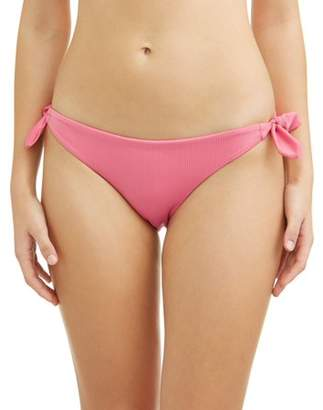 No Boundaries Juniors' Bunny Rib Side Tie Swimsuit Bottom