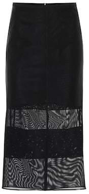 Thierry Mugler Mesh pencil skirt