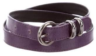 Suzi Roher Patent Leather Buckle Belt