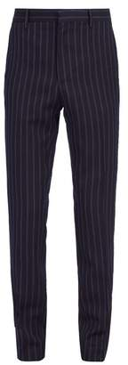 Calvin Klein 205w39nyc - Side Stripe Wool Blend Trousers - Mens - Navy