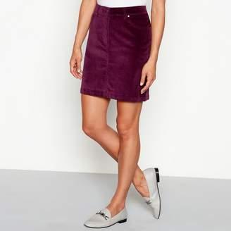 Red Herring Purple Cotton Cord Mini Skirt