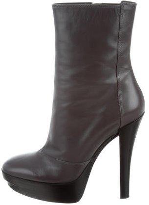 Louis Vuitton Leather Platform Ankle Boots