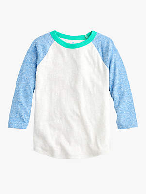 J.Crew crewcuts by Boys' Colour Block T-Shirt, Grey/Blue