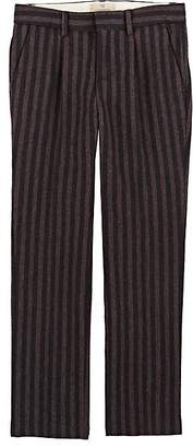 Scotch Shrunk KIDS' STRIPED WOOL-BLEND FLANNEL TROUSERS