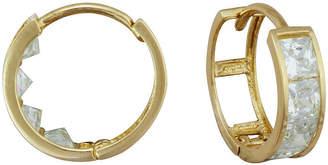 FINE JEWELRY 14K Gold Cubic Zirconia Hoop Earrings