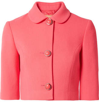 Michael Kors Stretch-wool Bouclé Jacket - Bubblegum