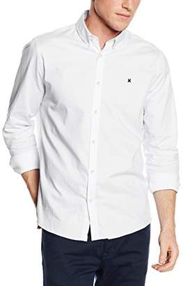 Gaastra Men's Regular Fit Long Sleeve Casual Shirt White Weiß (White A20)