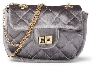 Do Everything in Love Quilted Velvet Shoulder Bag