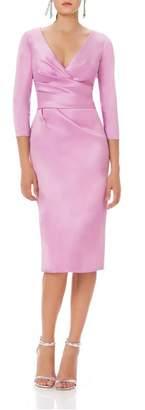 Theia 3/4 Sleeve Dress