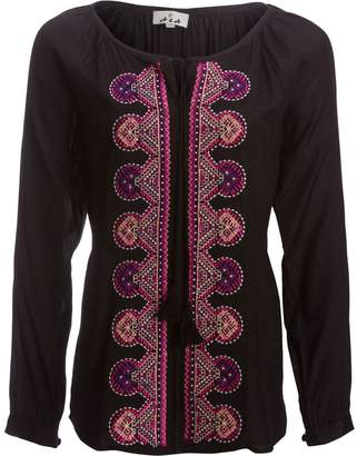 A.N.A Embroidered Tunic with Tassles - Women's
