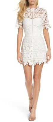 Women's Adelyn Rae Illusion Lace Romper $118 thestylecure.com
