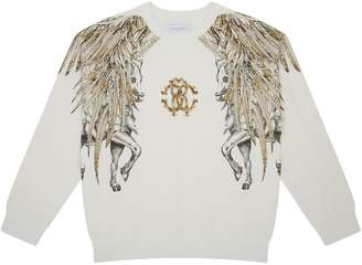Roberto Cavalli Feather Logo Sweatshirt