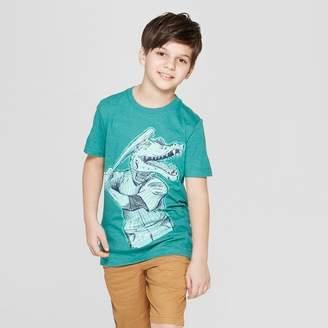 Cat & Jack Boys' Alligator Baseball Short Sleeve Graphic T-Shirt Green
