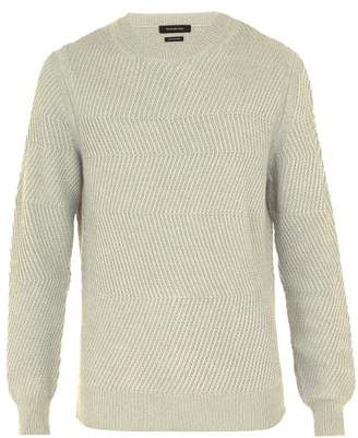 Ermenegildo Zegna Crew Neck Cashmere Sweater - Mens - Cream