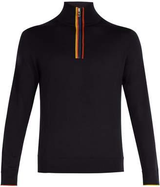 Paul Smith High-neck half-zip merino-wool sweater