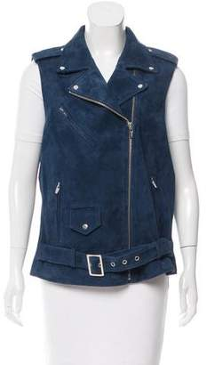 Veda Suede Moto Vest w/ Tags
