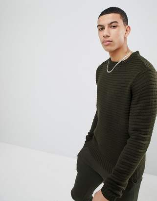 Soul Star Ribbed Crew Neck Sweater