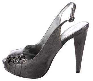 Calvin Klein Collection Leather Slingback Pumps