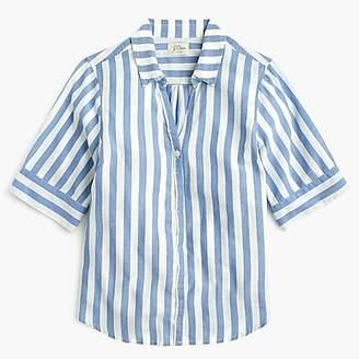 J.Crew Short-sleeve button-up shirt in wide stripe