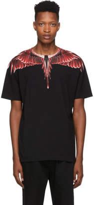 Marcelo Burlon County of Milan Black Red Ghost Wings T-Shirt
