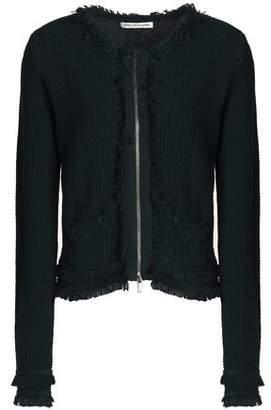 Autumn Cashmere Frayed Cotton-Bouclé Jacket