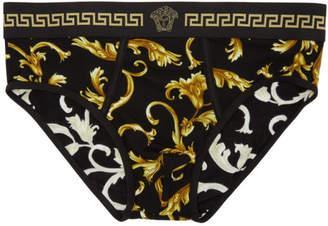 Versace Underwear Black Barocco Briefs
