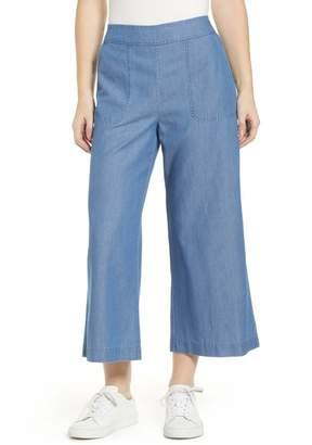 BP Chambray Wide Leg Crop Pants