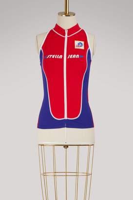 Stella Jean Logo sleeveless jacket