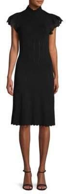 Rebecca Taylor Pointelle Lace Sheath Dress