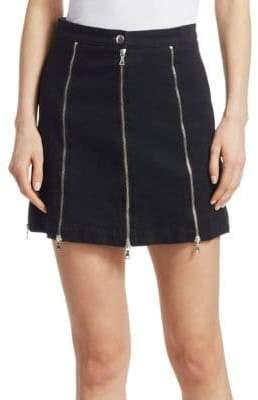 McQ Denim Zips Mini Skirt