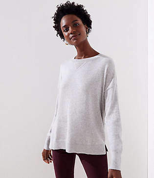 LOFT Sweatshirt Trim Sweater