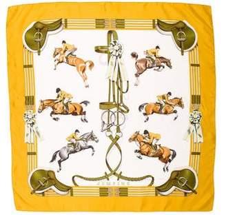 Hermes Jumping Silk Scarf